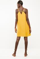 Superbalist - Chiffon strappy dress - Ochre