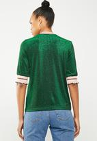 Vero Moda - Sporty glitter 2/4 top - green
