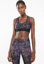 Superbalist - printed sport bra - black based print