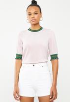 Vero Moda - Sporty glitter 2/4 top - pink