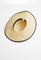 Superbalist - Round crown black trim hat - neutral