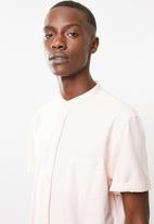 Superbalist - Oxford mandarin shirt - pink