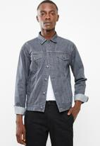 Superbalist - Basic Slim Denim Trucker Jacket - grey