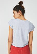 Supré  - Printed baby tee - grey