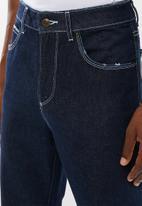Superbalist - Regular tapered contrast stitch jeans - indigo