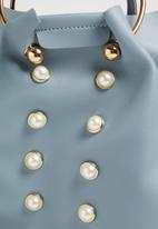 Superbalist - Sasha pearl embellished bag - blue