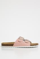 Cotton On - Rex double buckle slide - pink