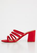 Cotton On - Conga tubed mule heel - red
