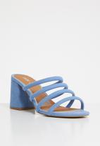 Cotton On - Conga tubed mule heel - blue