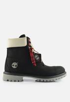 Timberland - 6 inch premiumn boot - black & white