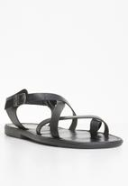 STYLE REPUBLIC - 2 Criss cross sandals - black