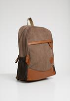 STYLE REPUBLIC - Canvas backpacks - tan