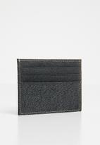 STYLE REPUBLIC - Cardholder leather wallet - black