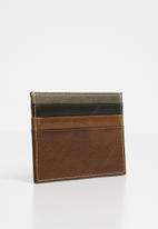 STYLE REPUBLIC - Cardholder leather wallet - brown & black