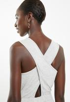 Superbalist - Jumpsuit with wrap back detail - grey melange