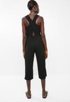Superbalist - Jumpsuit with wrap back detail - black