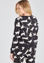 Supré  - Printed slouchy sleep top - black