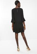 Superbalist - Long sleeve shift dress - black