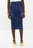 Superbalist - Denim midi bodycon - blue