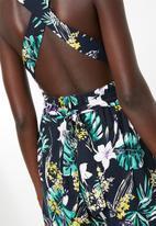 Superbalist - Tropical print romper - navy floral