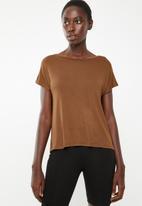 Superbalist - Knot back t-shirt - bronze