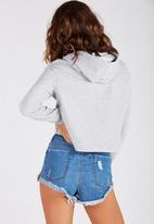 Supré  - Raw cut graphic hoodie - grey