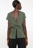Superbalist - Knot back T-shirt - green