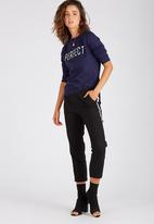 Supré  - Graphic crew sweat - navy
