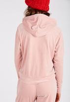 Supré  - Velour hoodie - pink