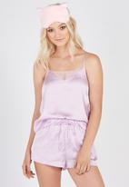 Supré  - Lace trim sleep cami  - lilac