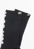 Nike - Sportswear sneaker socks - black and grey