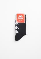 KAPPA - Authentic Amal 1 pack socks - black