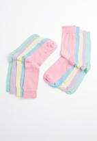 New Look - 5 Pack crew socks - pastel colours