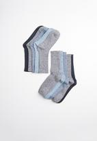 New Look - 5 Pack grindles socks -  blue and black