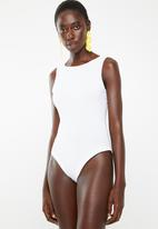 Superbalist - 2Pack boatneck bodysuit - grey and white