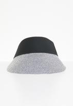 Superbalist - Straw visor hat - black