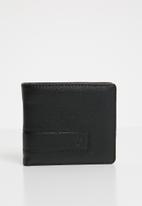 Nixon - Showdown bi-fold zip wallet  - black