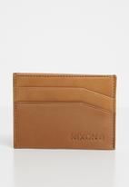 Nixon - Flaco leather card wallet -tan