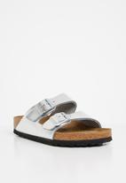 Birkenstock - Arizona wider fit - metallic silver