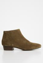 MANGO - Suede ankle boots - brown