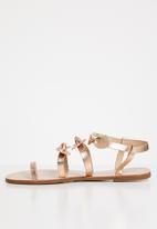Miss Black - Hania sandal - rose gold