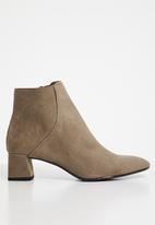 MANGO - Heel zipped boot - brown