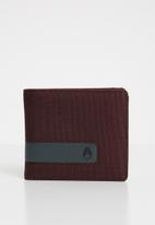 Nixon - Showtime bi-fold ID zip wallet - Burgundy