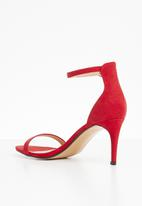 Truffle - Barely there low heel sandals - red
