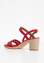 Tommy Hilfiger - Woven detail heels - red