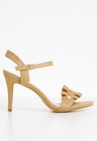 Miss Black - Peggotty open toe heels - neutral