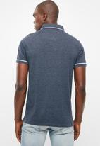 STYLE REPUBLIC - Block pique golfer - blue