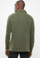 STYLE REPUBLIC - Pigment long sleeve golfer - green