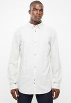 STYLE REPUBLIC - Bell fine stripe shirt - beige & taupe