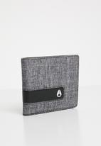 Nixon - Showdown bi-fold zip wallet  - grey